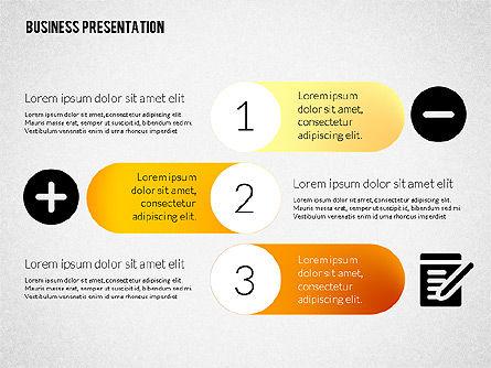 Business Presentations with Flat Shapes, Slide 6, 02275, Presentation Templates — PoweredTemplate.com