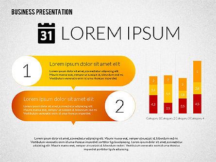 Business Presentations with Flat Shapes, Slide 8, 02275, Presentation Templates — PoweredTemplate.com