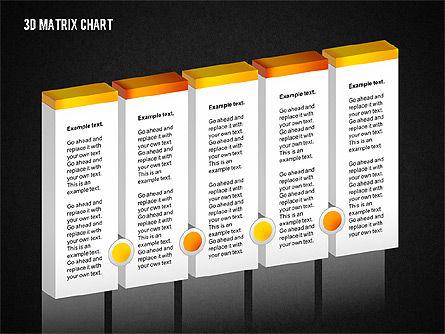 3D Matrix Chart, Slide 10, 02276, Matrix Charts — PoweredTemplate.com