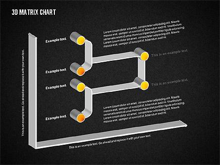 3D Matrix Chart, Slide 11, 02276, Matrix Charts — PoweredTemplate.com