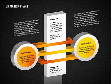3D Matrix Chart, Slide 13, 02276, Matrix Charts — PoweredTemplate.com