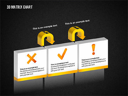 3D Matrix Chart, Slide 15, 02276, Matrix Charts — PoweredTemplate.com