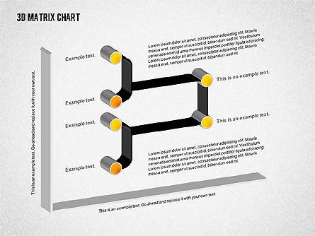 3D Matrix Chart, Slide 3, 02276, Matrix Charts — PoweredTemplate.com