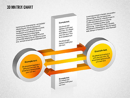3D Matrix Chart, Slide 5, 02276, Matrix Charts — PoweredTemplate.com