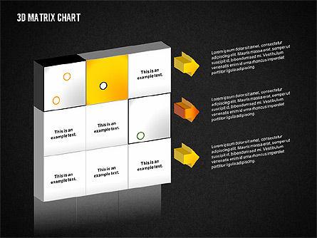3D Matrix Chart, Slide 9, 02276, Matrix Charts — PoweredTemplate.com
