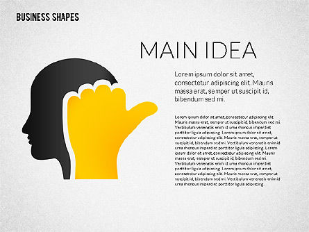 Growth Ideas Shapes, Slide 3, 02282, Shapes — PoweredTemplate.com