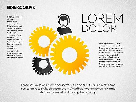 Growth Ideas Shapes, Slide 5, 02282, Shapes — PoweredTemplate.com
