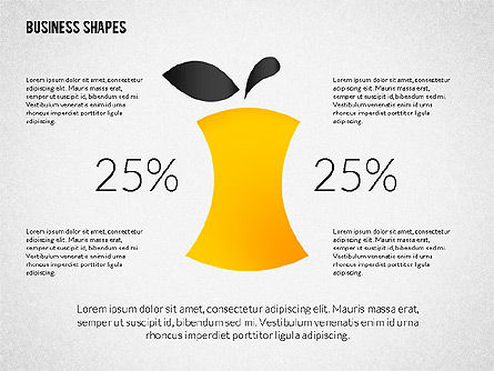 Growth Ideas Shapes, Slide 6, 02282, Shapes — PoweredTemplate.com