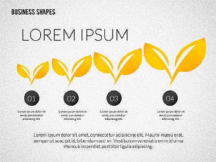 Growth Ideas Shapes, Slide 8, 02282, Shapes — PoweredTemplate.com