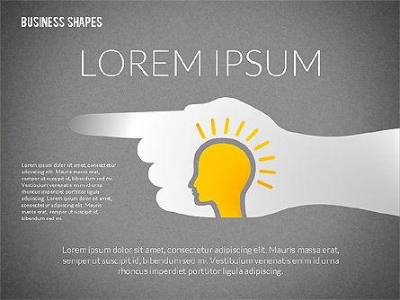 Growth Ideas Shapes, Slide 9, 02282, Shapes — PoweredTemplate.com