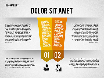 Folded Banner Infographics, Slide 2, 02285, Infographics — PoweredTemplate.com