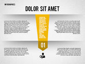 Infographics: Folded Banner Infographics #02285