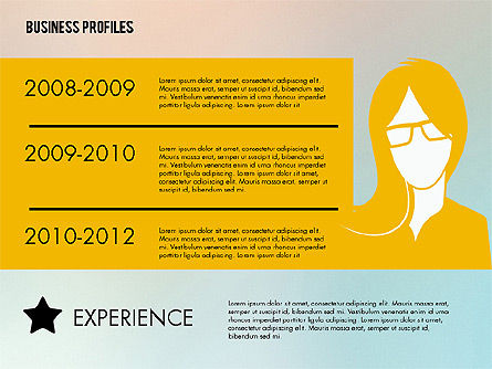 Business Profiles with Silhouettes, 02287, Presentation Templates — PoweredTemplate.com
