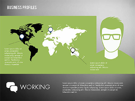 Business Profiles with Silhouettes, Slide 10, 02287, Presentation Templates — PoweredTemplate.com