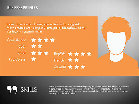 Business Profiles with Silhouettes, Slide 11, 02287, Presentation Templates — PoweredTemplate.com