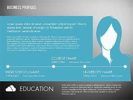 Business Profiles with Silhouettes, Slide 12, 02287, Presentation Templates — PoweredTemplate.com