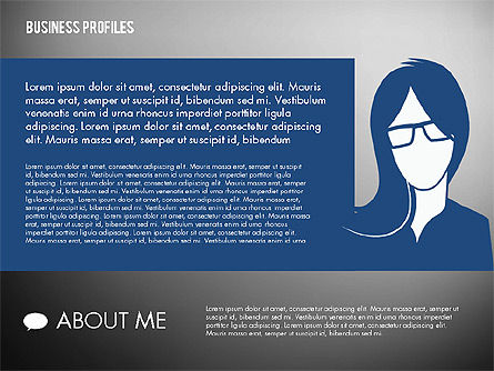 Business Profiles with Silhouettes, Slide 13, 02287, Presentation Templates — PoweredTemplate.com