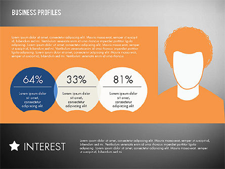 Business Profiles with Silhouettes, Slide 15, 02287, Presentation Templates — PoweredTemplate.com