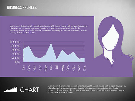 Business Profiles with Silhouettes, Slide 16, 02287, Presentation Templates — PoweredTemplate.com