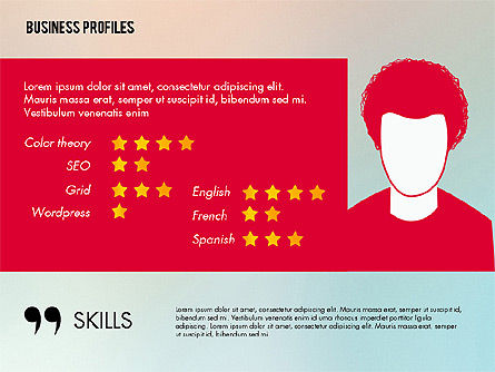Business Profiles with Silhouettes, Slide 3, 02287, Presentation Templates — PoweredTemplate.com