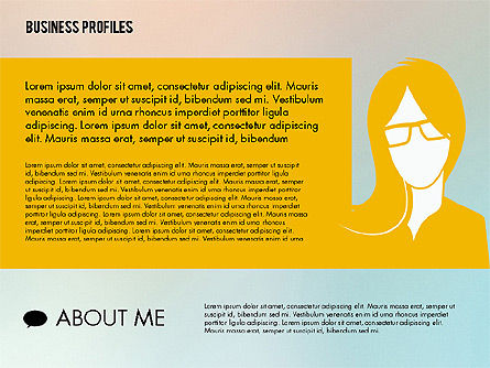 Business Profiles with Silhouettes, Slide 5, 02287, Presentation Templates — PoweredTemplate.com