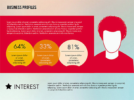 Business Profiles with Silhouettes, Slide 7, 02287, Presentation Templates — PoweredTemplate.com