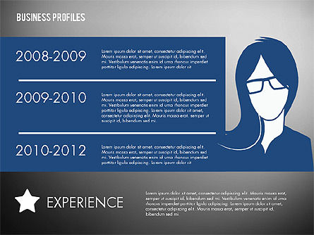 Business Profiles with Silhouettes, Slide 9, 02287, Presentation Templates — PoweredTemplate.com