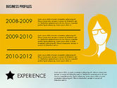 Presentation Templates: Business Profiles with Silhouettes #02287