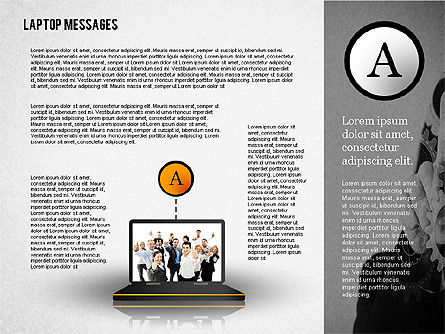 Laptop Messages, 02291, Presentation Templates — PoweredTemplate.com