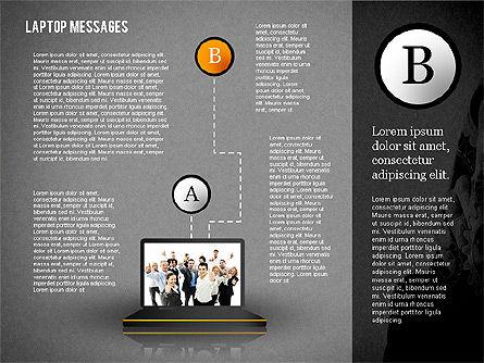 Laptop Messages, Slide 10, 02291, Presentation Templates — PoweredTemplate.com