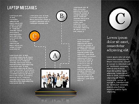 Laptop Messages, Slide 11, 02291, Presentation Templates — PoweredTemplate.com