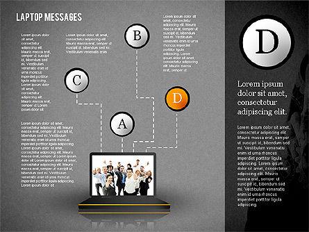 Laptop Messages, Slide 12, 02291, Presentation Templates — PoweredTemplate.com