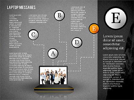 Laptop Messages, Slide 13, 02291, Presentation Templates — PoweredTemplate.com
