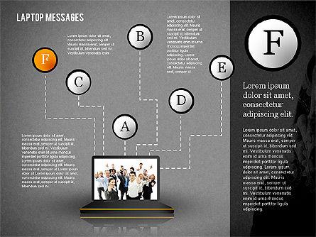 Laptop Messages, Slide 14, 02291, Presentation Templates — PoweredTemplate.com