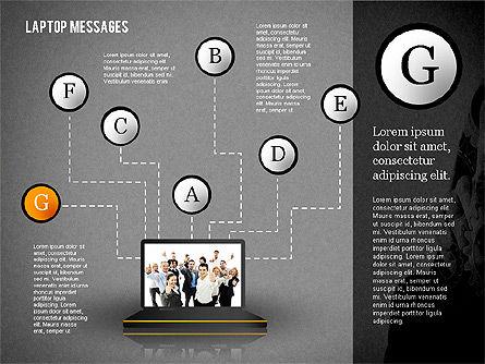 Laptop Messages, Slide 15, 02291, Presentation Templates — PoweredTemplate.com