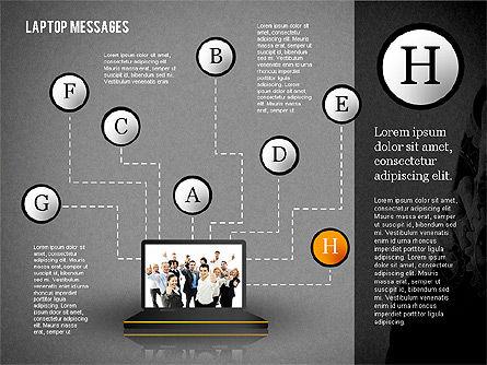Laptop Messages, Slide 16, 02291, Presentation Templates — PoweredTemplate.com