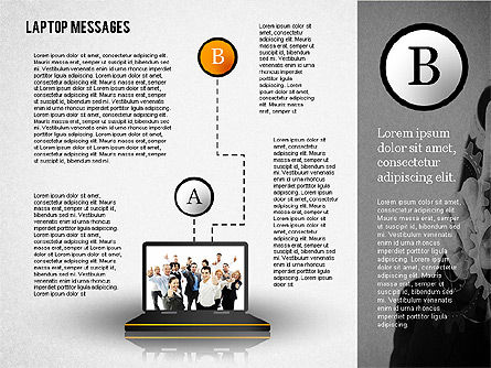 Laptop Messages, Slide 2, 02291, Presentation Templates — PoweredTemplate.com