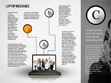Laptop Messages, Slide 3, 02291, Presentation Templates — PoweredTemplate.com
