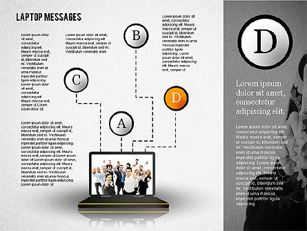 Laptop Messages, Slide 4, 02291, Presentation Templates — PoweredTemplate.com