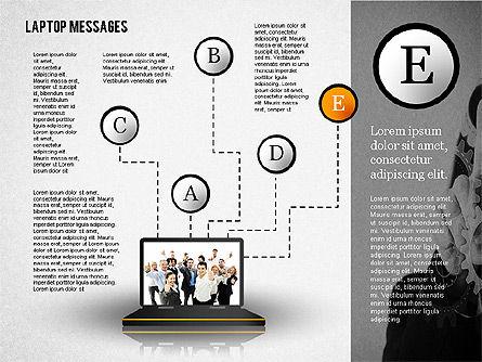 Laptop Messages, Slide 5, 02291, Presentation Templates — PoweredTemplate.com
