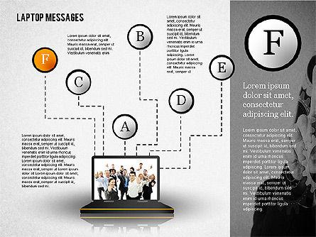 Laptop Messages, Slide 6, 02291, Presentation Templates — PoweredTemplate.com