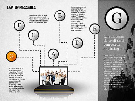 Laptop Messages, Slide 7, 02291, Presentation Templates — PoweredTemplate.com
