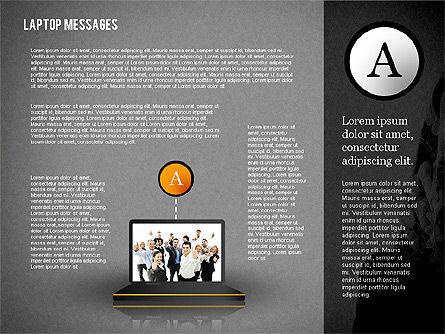 Laptop Messages, Slide 9, 02291, Presentation Templates — PoweredTemplate.com