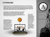 Presentation Templates: Laptop Messages #02291
