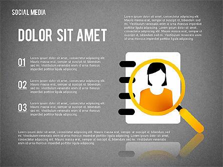 Social Media Presentation, Slide 10, 02292, Presentation Templates — PoweredTemplate.com