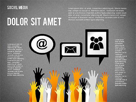 Social Media Presentation, Slide 12, 02292, Presentation Templates — PoweredTemplate.com