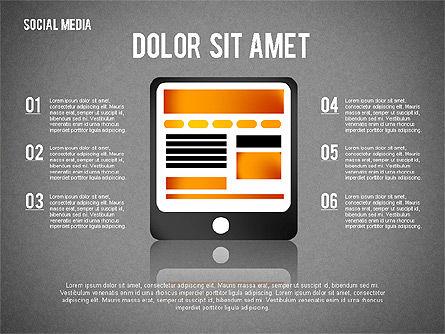 Social Media Presentation, Slide 13, 02292, Presentation Templates — PoweredTemplate.com