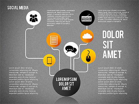 Social Media Presentation, Slide 14, 02292, Presentation Templates — PoweredTemplate.com