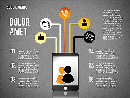 Social Media Presentation, Slide 16, 02292, Presentation Templates — PoweredTemplate.com