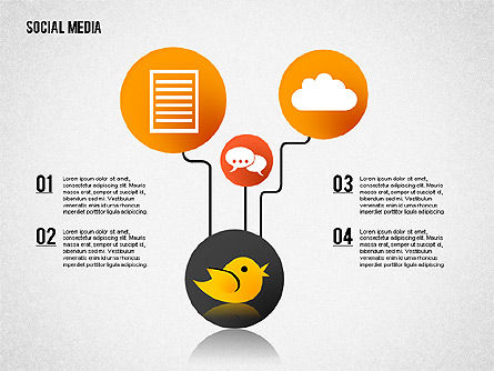 Social Media Presentation, Slide 3, 02292, Presentation Templates — PoweredTemplate.com